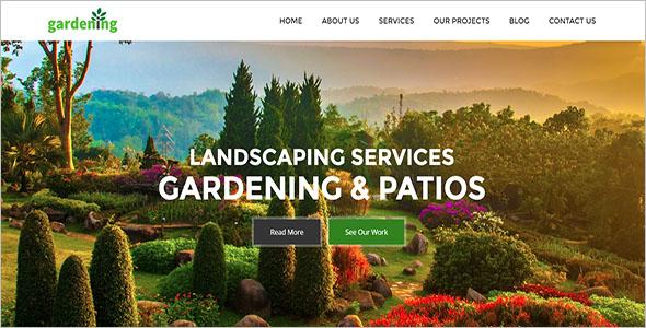 Sample Garden Landscaping Template