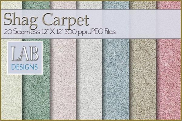 Seamless Shag Carpet Textures