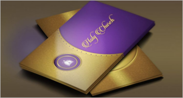 Simple Church Business Card Templates