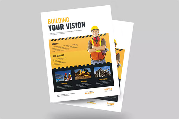 Simple Construction Flyer Template