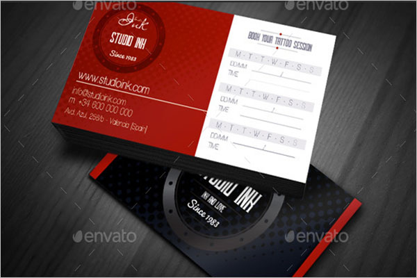 Simple Tattoo Business Card Design