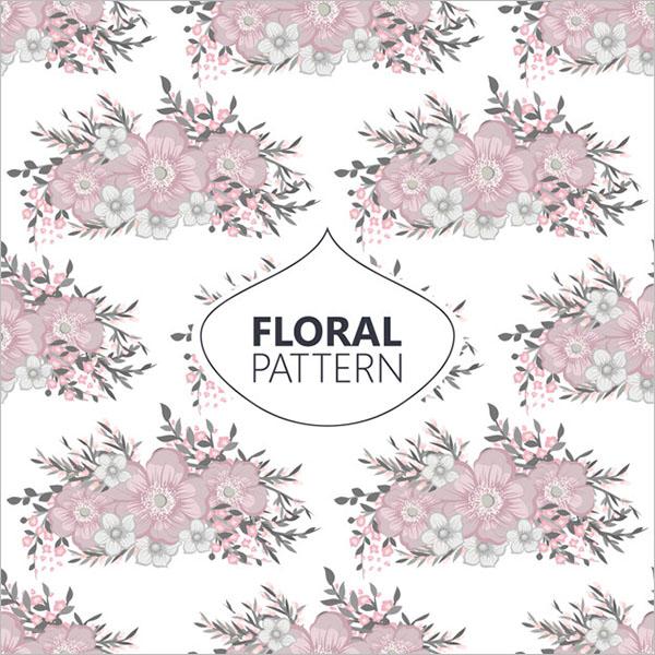 Simple Vintage Floral Texture