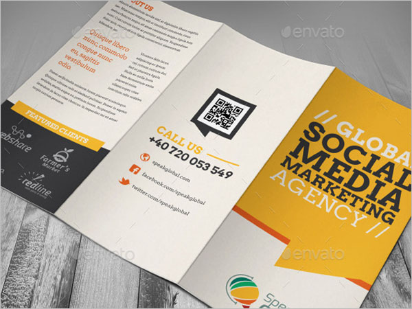 Single Page Brochure Design PSD