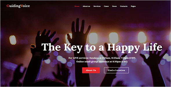 Spiritual WordPress Template