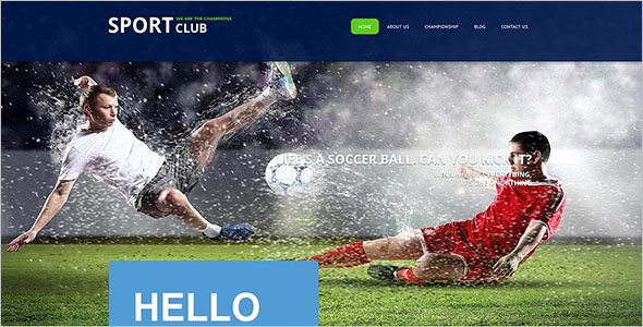 Sport Club Joomla Theme