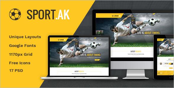 Sport Club PSD Template