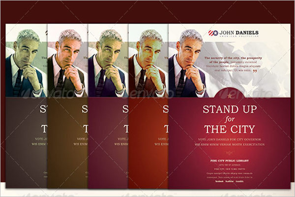Stand Up For City Political Flyer Template