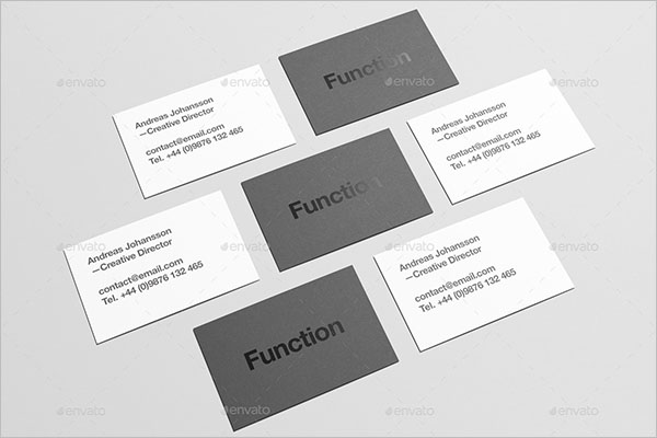 Staple Business Card Mock up Design