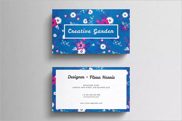 Staples Floral Business Card Template
