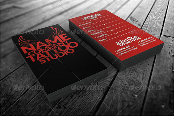 Tattoo Business Card Holder