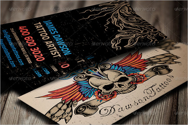 25 tattoo business card templates free vector psd designs tattoo business card template psd cheaphphosting Image collections