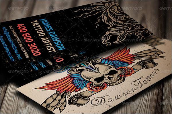 Tattoo Business Card Template PDS