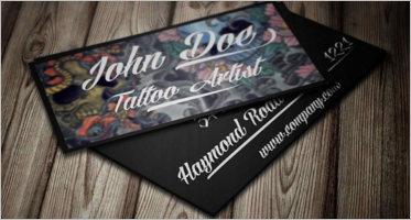 Tattoo Business Card Templates