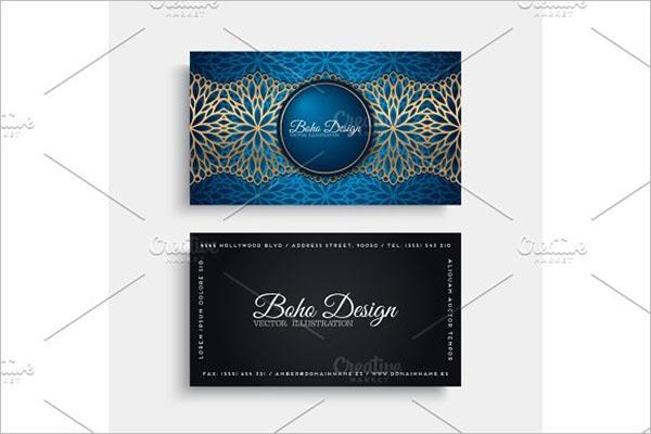 Tattoo Business Card Vector Design