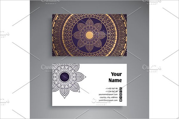 Temporary Tattoo Business Card Template