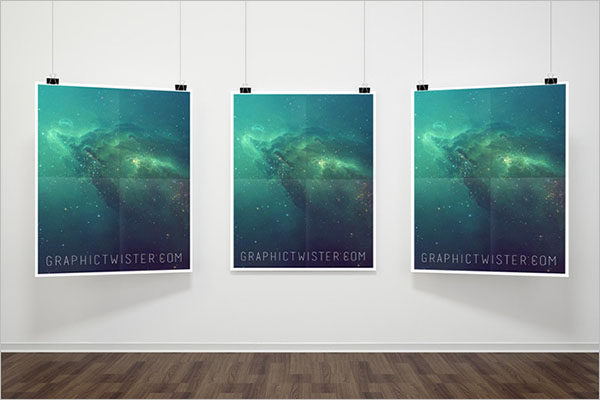Triple Hanging Poster Template