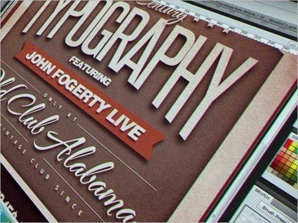 Typography Poster Design Free