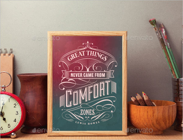 Typography Poster Design PSD