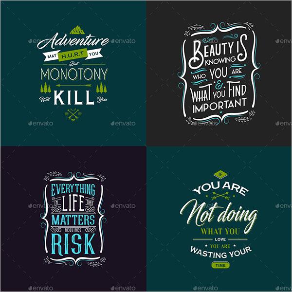 Typography Poster Illustrator Design
