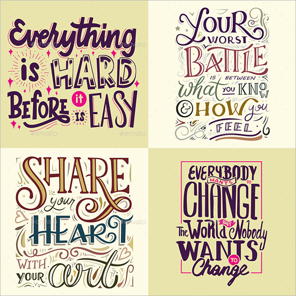 Typography Poster Set Template