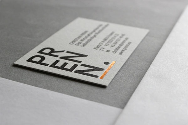 Vertical Staples Business Card Template