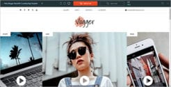 Video Blogger Landing Page Template