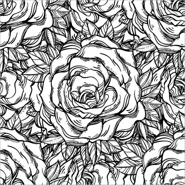 Vintage Floral Tattoo Texture