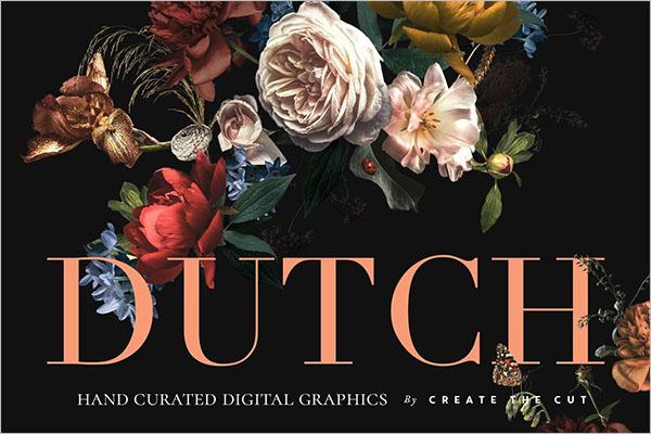 Vintage Floral Textura