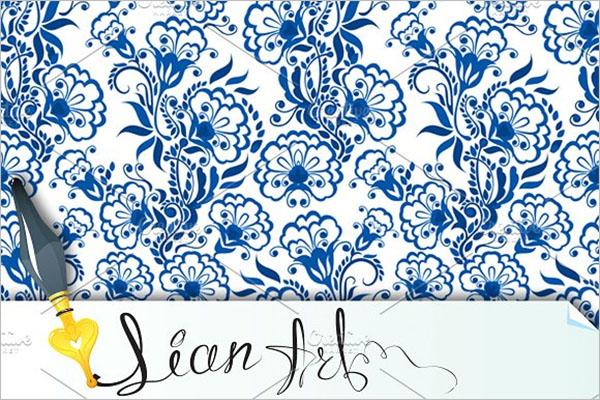 Vintage Floral Wallpaper Texture