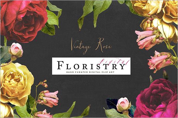 Vintage Floristry Texture Design