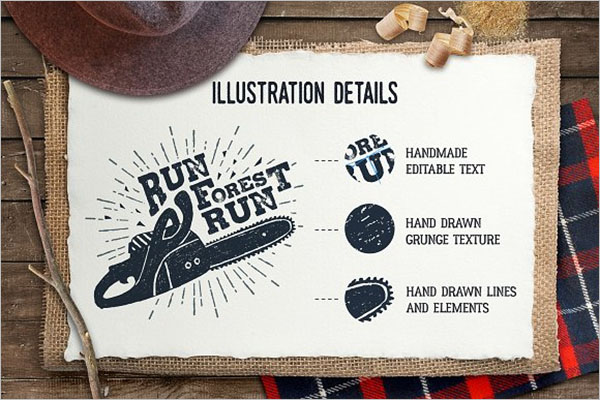 Vintage Hand Drawn Poster Template