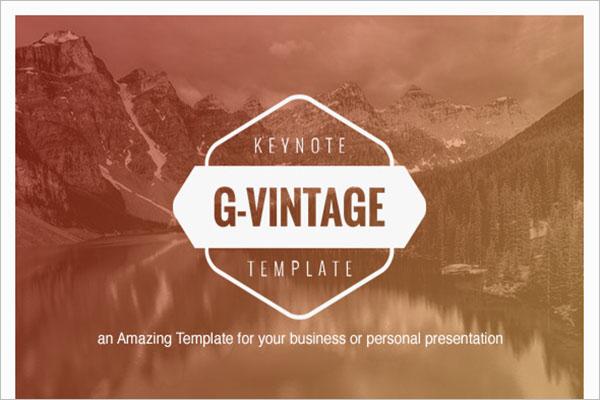 Vintage Presentation Graphic Design