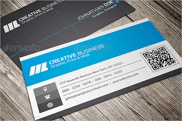 Vintage QR Code Business Card Template