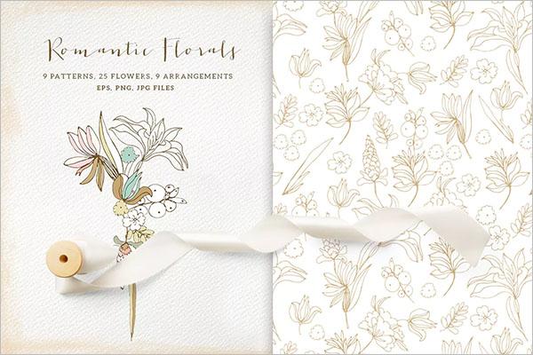 White Wallpaper Floral Texture