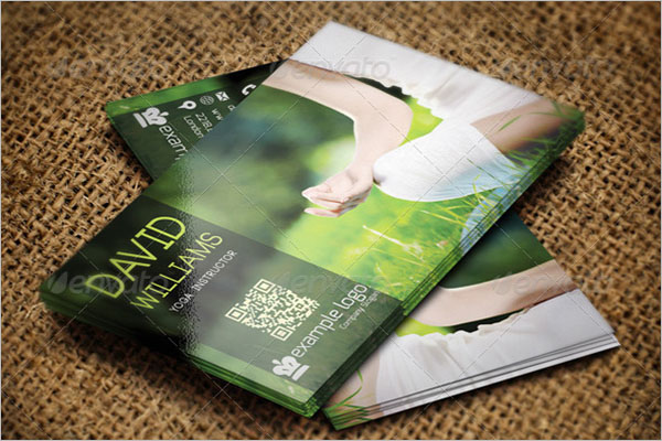 Yoga Instructor QR Code Business Card