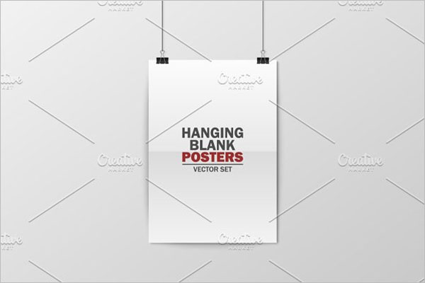 blank Hanging Poster Template