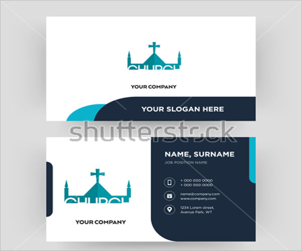 church Business Card Example