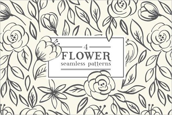 floral textile wallpaper