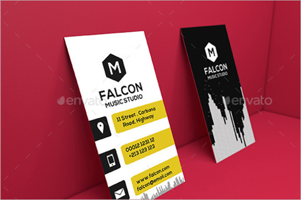 music business card canva