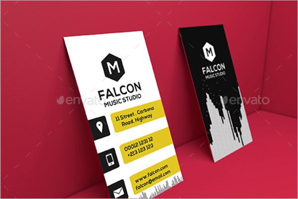 music business card canva