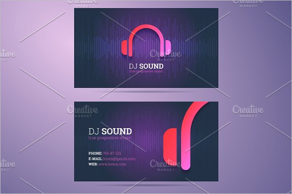 music business card holdes