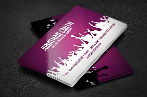 music business card vectar