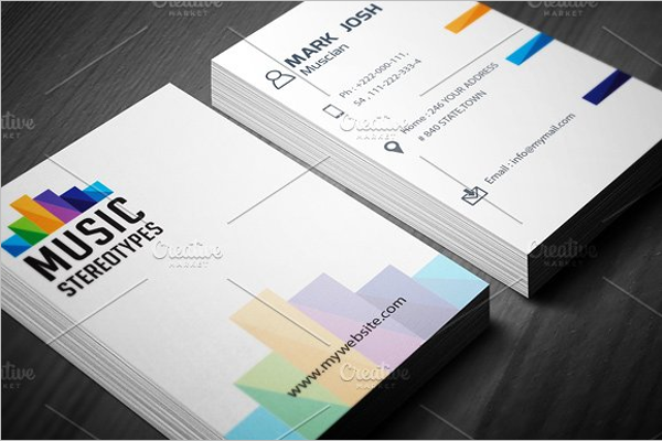 music visiting cards templates