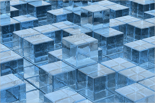 3D Ice Cube Background Design