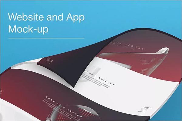 3D Website Mockups