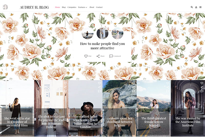 Audrey WordPress Theme