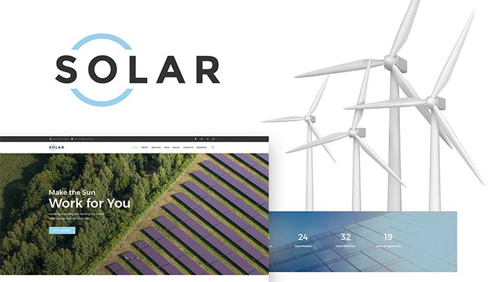 Solar - Alternative Energy Company WordPress Theme WordPress Theme