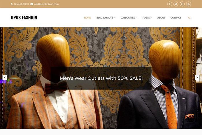 Opus Fashion - Multi-purpose Blog WordPress Theme