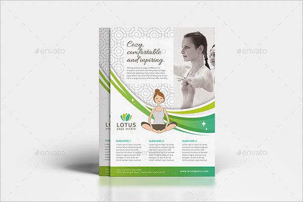 A4 Yoga Poster Template