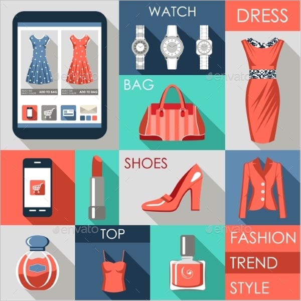 Abstract Fashion Icon Set